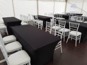 Půjčovna party nábytku - stoly a židle