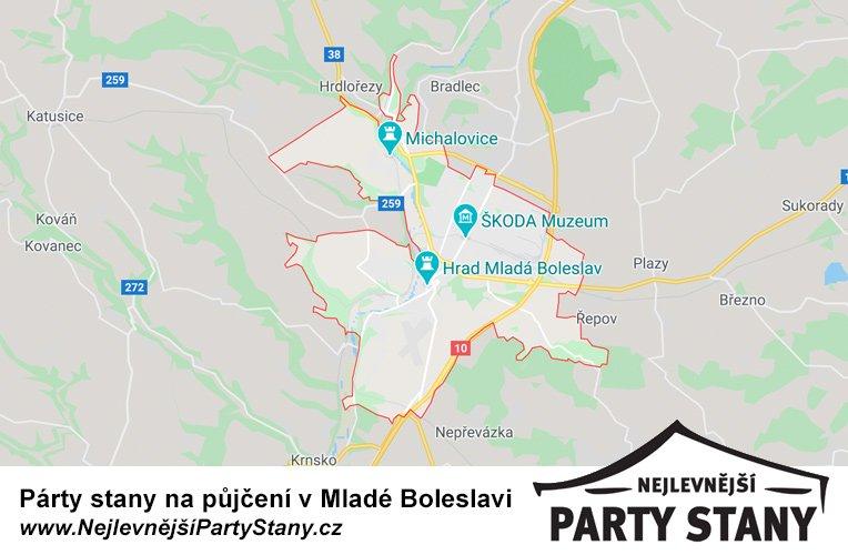 pujcovna party stanu mlada boleslav