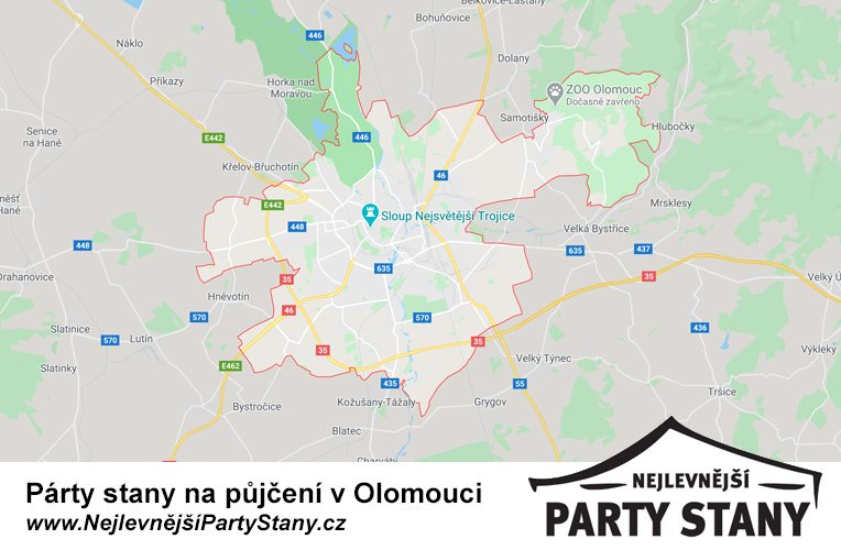 pujcovna party stanu olomouc